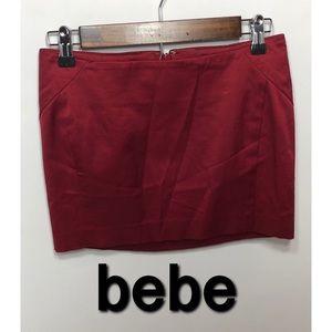 bebe miniskirt size 0